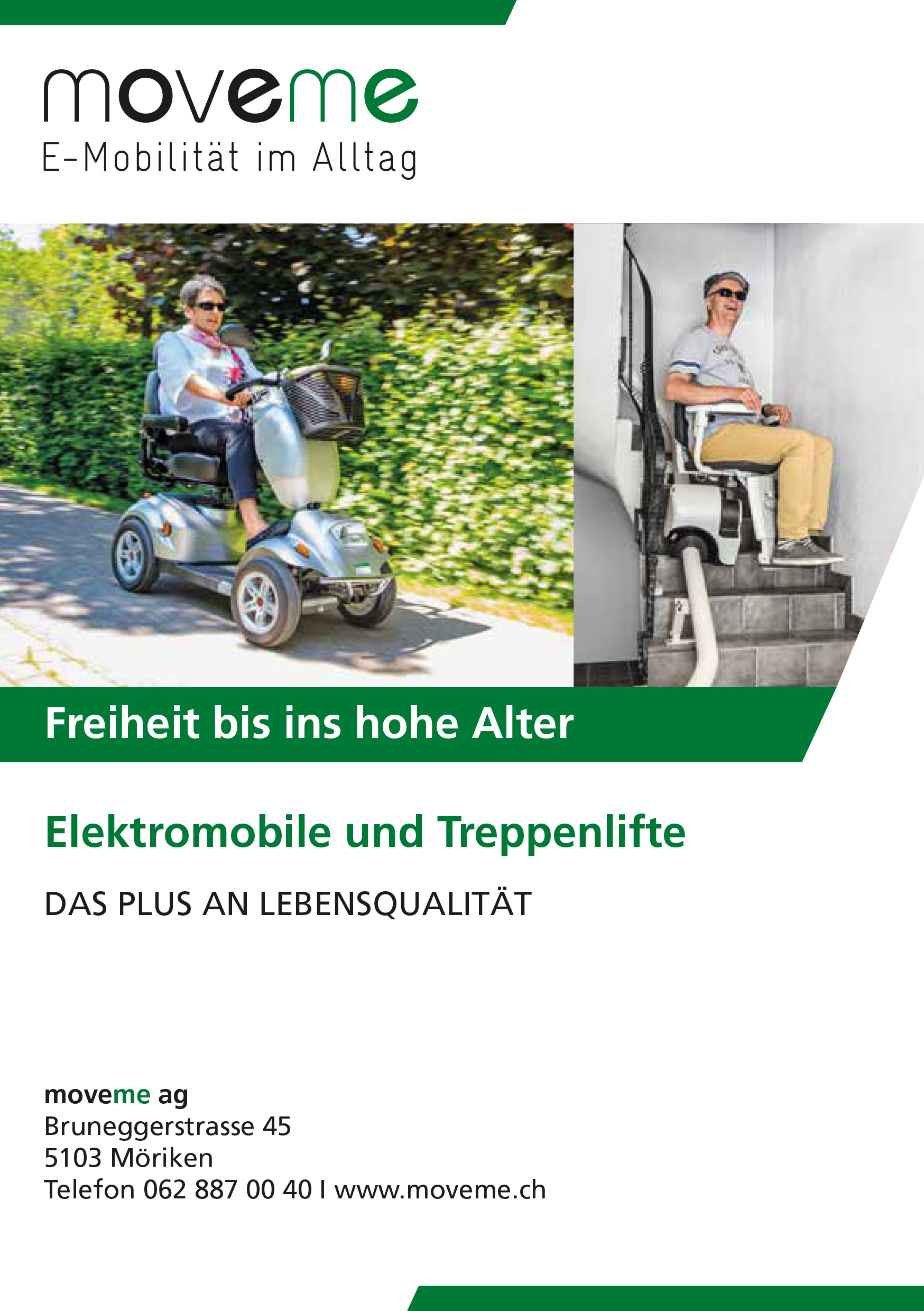 Elektromobile und Treppenlifte von moveme ag in Möriken, Grosser Showroom