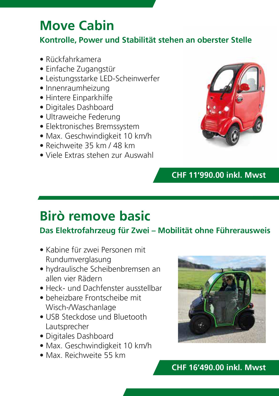 Elektromobil für zwei Personen und gedeckte Elektromobile, Preis Biro